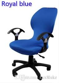 computer chair covers royal blue colour lycra computer chair cover fit for office chair