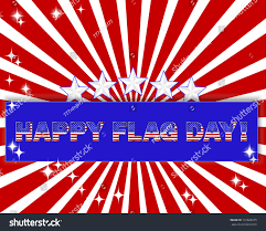 Red Flag Day American Flag Day Blue Banner Beautiful Stock Vector 137828315