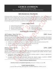 sample resume of experienced mechanical engineer gallery