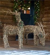 lighted rattan reindeer outdoor decorating lighted outdoor