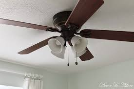 Light Shades For Ceiling Fans A And Easy Ceiling Fan Update Spray Painting Glass Light