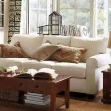 decorating comfortable sofa and coffee table for pottery barn