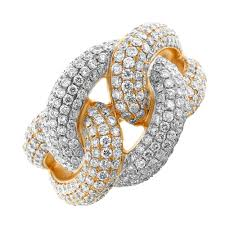 diamond cocktail rings stunning 18k gold micro pave diamond cocktail ring r456l 1