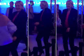 Wildfire Dance by Marine Le Pen Dances The Night Away After Election Loss New York
