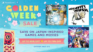 golden week sale deals on japan inspired games and movies