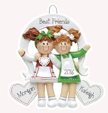 best friends w pigtails personalized ornament my personalized
