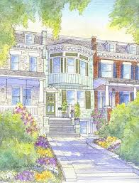 classic row house in washington dc great choice of colors