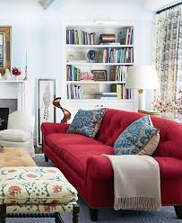 small house decoration nice red couch living room design ideas for small house and