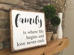 family wood sign farmhouse wall decor wood sign sayings