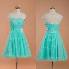 mint green short prom dress with white lace u2013 mypromdress