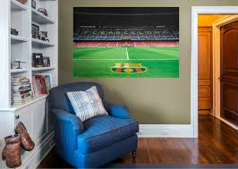 fc barcelona camp nou sideline view mural wall decal shop
