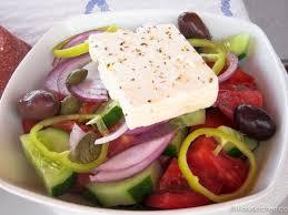santorini summer salad with tofu feta