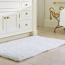 Bathroom Floor Mats Rugs Norcho 31 X 19 Soft Shaggy Bath Mat Non Slip Rubber