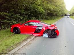 audi r8 driver of 120 000 audi r8 spins out of in daily