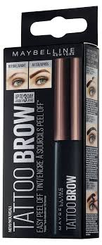 tattoo eyebrows lancashire maybelline tattoo brow longlasting tint 4 6 g dark brown