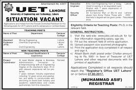 Security Guard Jobs With No Experience University Of Engineering U0026 Technology Lahore Jobs On 22 February