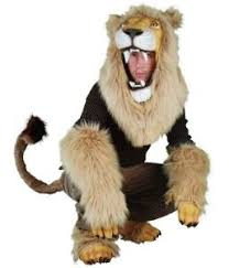 lion costume realistic lion partial costume and mask set