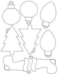 printable ornament shapes trace around your chosen template onto