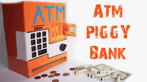 how to make an atm piggy bank at home just5mins 2 youtube