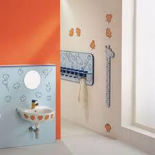 bathroom charming kids bathroom ideas with wall decor and