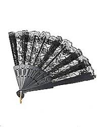 black lace fan black lace cross garters spirithalloween