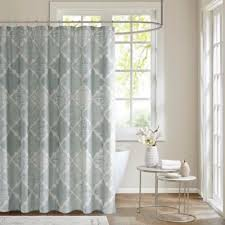Unique Fabric Shower Curtains Buy Aqua Fabric Shower Curtains From Bed Bath Beyond