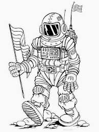 real astronaut coloring pages pics about space