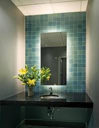 Lighted Mirrors For Bathroom Wonderful Backlit Bathroom Mirror 8 Led Backlit Mirror Bathroom