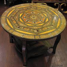 moroccan round coffee table furniture morrocan coffee table with artistic shape and legs part