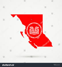 Flag British Columbia British Columbia Map Haida Flag Colors Stock Vector 539603368