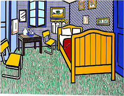 vincent gogh la chambre roy lichtenstein s bedroom is a take on gogh s bedroom in