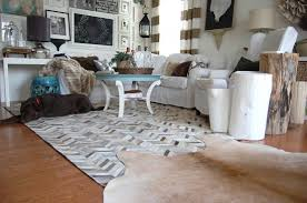 chevron hide rug rawhide company cowhide rugs in interior design and beyond