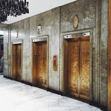 elevator decor can be cozy with some special wallpaper hotel