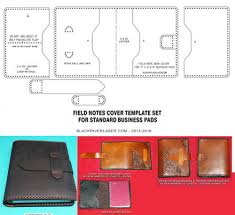 spiral bound business pad cover template set for leather crafters