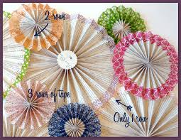 diy paper fans washi embellished paper medallions diy catch my party