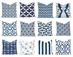 navy blue and white pillow cover home decor decorative