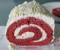 honey bee sweets red velvet christmas yule log cake