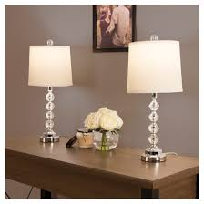 table lamps faceted crystal balls set of 2 2 led bulbs included
