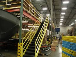 Mezzanine Stairs Design Steel Mezzanines And Work Platforms For Warehouse Storage Facilities