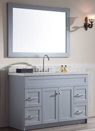 Ace  Inch Transitional Single Sink Bathroom Vanity Set In Grey - Bathroom vanities with quartz countertops
