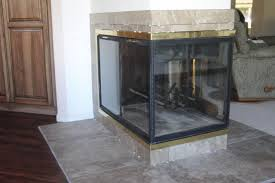 Superior Fireplace Glass Doors by See Through Gas Fireplace Island U0026 Free Standing Fireplaces