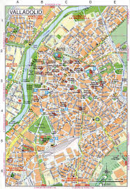 Spain Map Cities by Valladolid Map