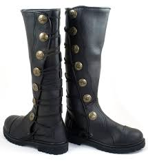 brown leather moto boots premium top grain leather renaissance boots highland boots