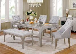 mirror accented dining room table set
