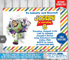 buzz lightyear toy story birthday invitation 1 by templatemansion