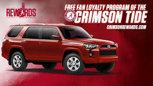 toyota official website crimson tide rewards program presented by tuscaloosa toyota