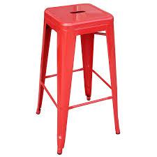 amazon com amerihome metal bar stool set 30 inch red set of 4