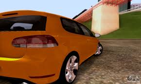 orange volkswagen gti volkswagen golf 6 gti for gta san andreas