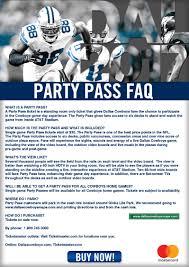 cowboys on thanksgiving party pass faqs dallas cowboys
