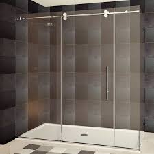 23 Inch Shower Door Lesscare 79 X 72 X 36 Inch Frameless Chrome Brushed Nickel Finish